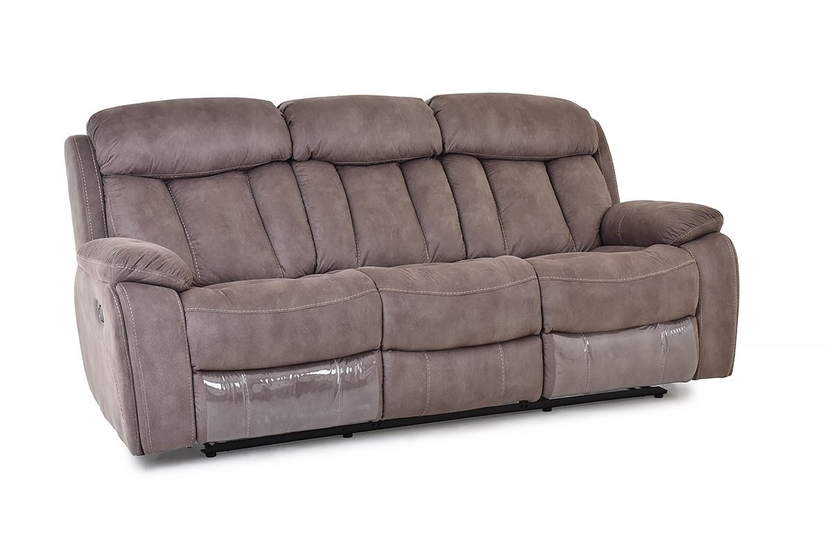 Primo 3 Seater Brown Recliner Sofa
