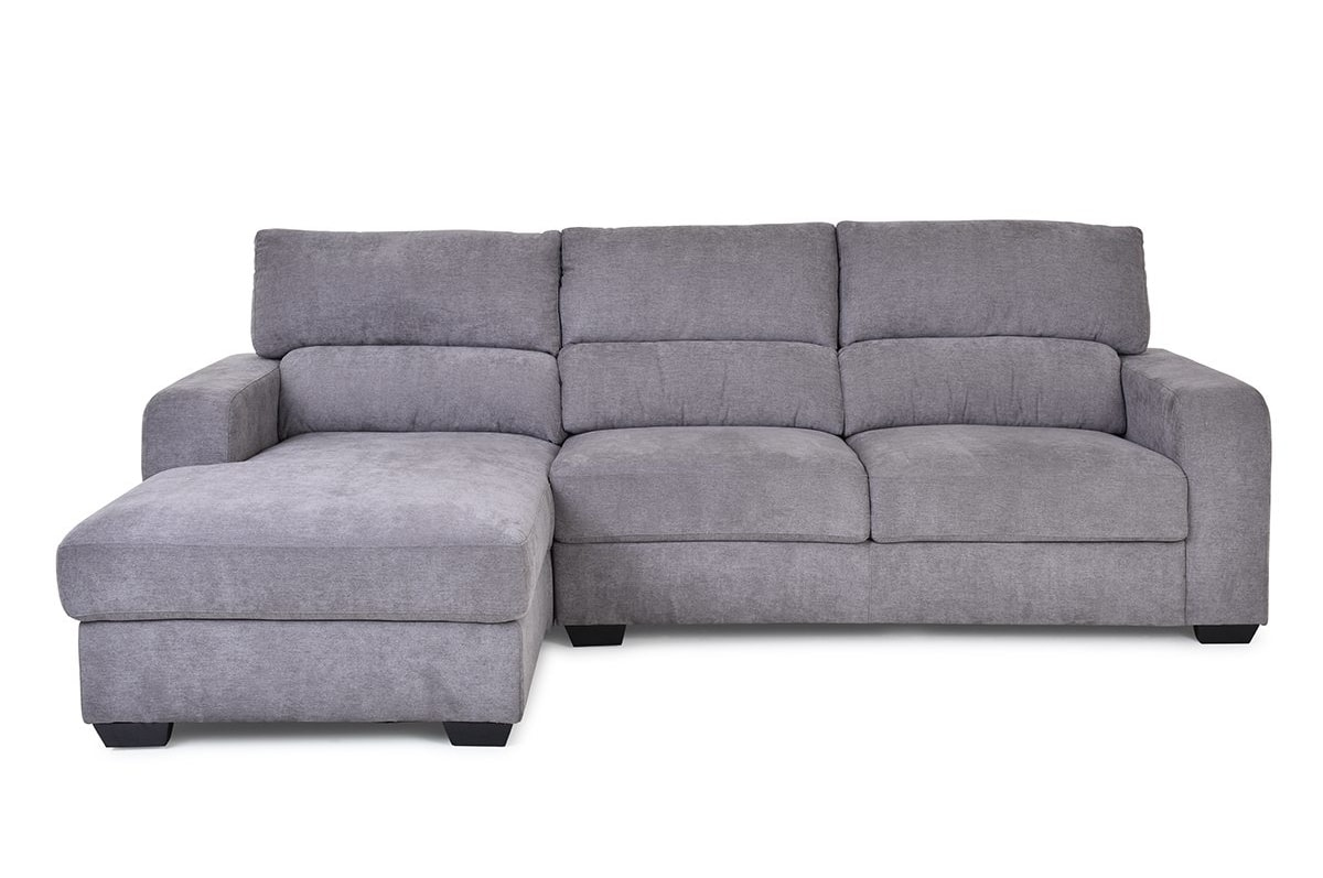 Sherbert 3 Seater Sofa With Chaise Left