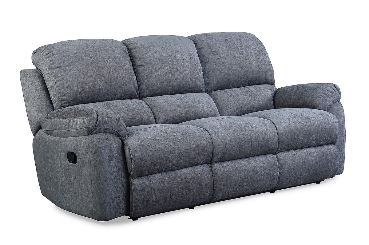Leona Charcoal 3 Seater Recliner Sofa