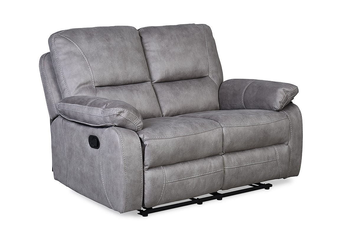 Houston Light Grey 2 Seater Recliner Sofa