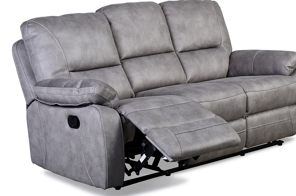 Light Grey 3 Seater Recliner Sofa